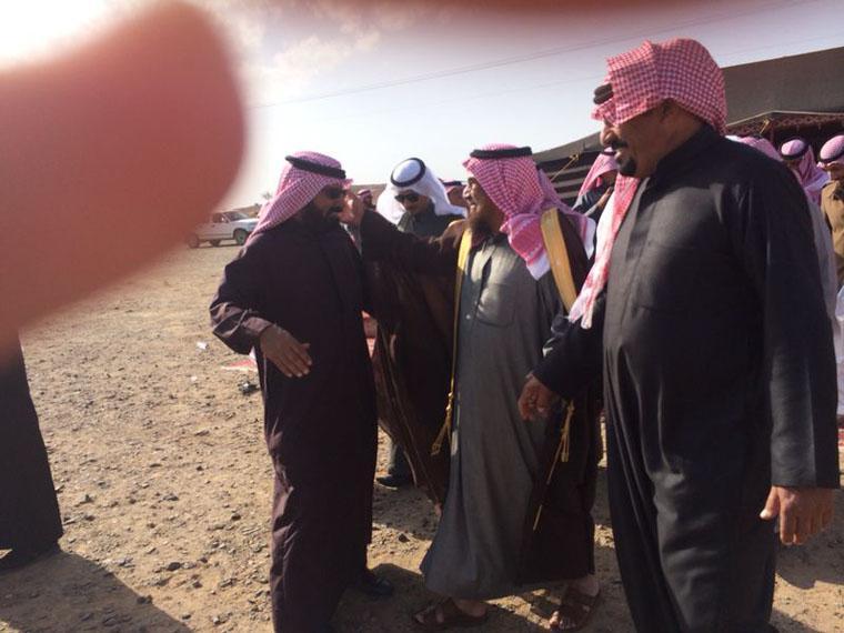 صورة تغطية زيارة الشاعر فلاح بن مبرد الحميداني المطيري للشيخ خلف دغيم الجنيني (في قرية الدابية)